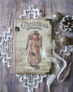 Christmas Angels diary journal notebook memory by BethStyleBook