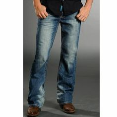 Rock & Roll Cowboy Men's Relaxed Fit Boot Cut Jeans