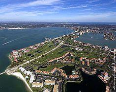 St Pete Area Aerial - Isla Del Sol Yacht & Country Club ~ 6000 Sun Boulevard, St Petersburg, Florida 33715 ~ 727.906.4752 ~ www.isladelsolycc.com