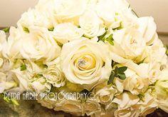 Avalanche Rose teardrop bouquet