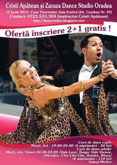 ZARAZA ORADEA: Cursuri de dans de societate Lectii de dans sportiv Tango