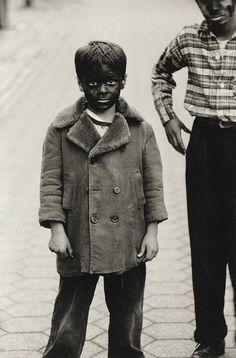 Diane Arbus, 1957, Boy in Blackface with a friend