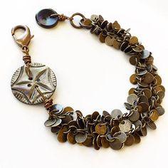 Fringe Bracelet with Vintage Buttons