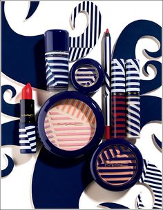 summer 2012 collection / MAC Cosmetics available at The Bay in Scarborough Town Centre #stripes #makeup