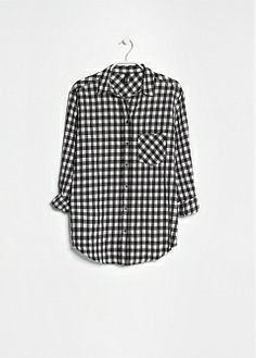 MANGO GINGHAM CHECK SHIRT SHIRT