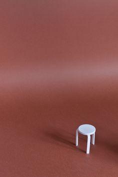 Stool E 60 design by Alvar Aalto 1934 for Artek, Sergio Magnano 3D print, mail sermag3d@gmail.com