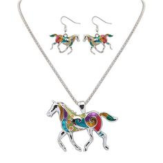 Find More Jewelry Sets Information about Zenper Oil Rainbow Horse Chain jewelry sets necklace earrings set jewellery for women jewellery Christmas Gift free shipping L84,High Quality jewellery cord,China jewellery mold Suppliers, Cheap jewellery enamelling from Yiwu zenper accessories crafts co.,ltd  on Aliexpress.com