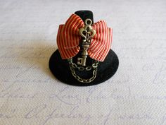key bow ring Vintage, Steampunk and Dolly kei inspired on Etsy, $11.44 CAD