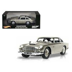 "Aston Martin DB5 Silver James Bond 007 From ""Goldfinger"" Movie 1/18 Diecast Model Car by Hotwheels"