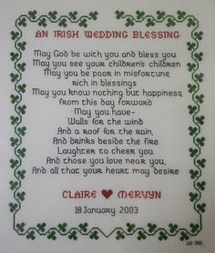 Irish Love Quotes Wedding Amusing Irish Blessing With The Claddagh For That Special Bride And Groom
