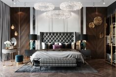 Exclusive decoration materials and furniture, modern technological solutions and decor - a luxury for those who understands. ~ Exclusive finishing materials and furnishings, modern technological solutions and decor - a luxury for those who understand. Modern Luxury Bedroom, Luxury Bedroom Design, Bedroom Bed Design, Luxury Home Decor, Contemporary Bedroom, Luxurious Bedrooms, Luxury Interior, Modern Interior Design, Home Bedroom
