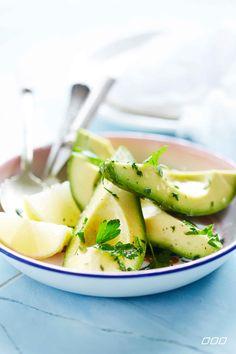 Avocado with lemon and herbs  http://www.lornajane.com.au/COOK2014/Nourish-Cook-Book-2014