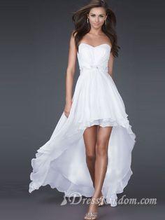 Sexy A-line Sweetheart Asymmetrical Chiffon Beaded Prom Dress / Evening Dress 2011 New [10105424] - US$95.99 : DressKindom