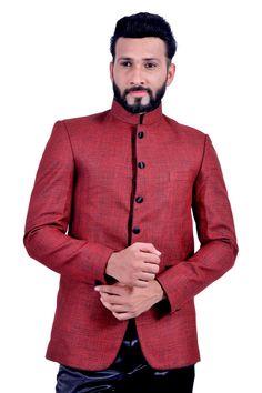 Brick Red Blazer for Men Red Blazer, Blazer Suit, Wedding Men, Wedding Suits, Reception Suits, Tailored Suits, Blazers For Men, Mandarin Collar, Formal Wear