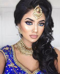 wedding makeup indian Birthday Glam _ Makeup Dets Skin makeupforeverca Ultra HD Soft Light in Gold, marcbeauty marcjacobs Shameless Indian Makeup Looks, Indian Wedding Makeup, Wedding Day Makeup, Bride Makeup, Hair Makeup, How To Do Indian Makeup, Glam Makeup, Indian Eye Makeup, Bridal Makeup For Brown Eyes