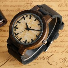 SKU# WAL0059EL-L  100% Nature Wood Case  Water Resistance Depth: No waterproof  Movement: Quartz  Band Material: Genuine Leather  Dial Window Material: Plastic  Case Material: Wood  Clock Face Pattern: Bamboo Wood  Clasp Type: Pin Buckle    Dia Diameter: 4.4cm approx.  Case Thickness: 1.2cm approx.  Band Width: 2.4cm approx.  Band Length: 24cm approx.    Notice:  The watch is made from natural wood and is wrapped by hand, so it may have some natural harsh lines and a few blemishes…