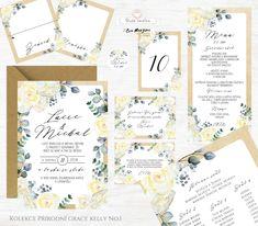 Svatební oznámení s krémovými a béžovými květy s lístky v přírodním stylu rustic vintage. Autorská tvorba od www.BudeVeselka.cz. Grace Kelly