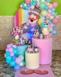 Linda festa no tema Mundo Bita! Birthday Party Decorations, Party Themes, Birthday Parties, Candy Themed Party, Pink Bar, Party World, Balloon Cake, Donut Party, Birthday Photos