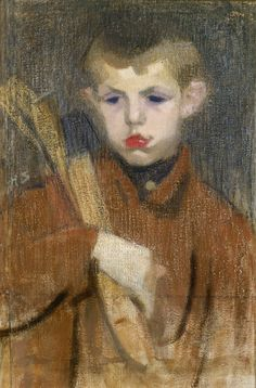 Helene Schjerfbeck: The Woodcutter I, Ateneum Art Museum. Helene Schjerfbeck, Helsinki, Chur, Art Archive, Vintage Artwork, Amazon Art, Life Drawing, Portrait Art, Figure Painting
