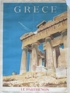Greece, 1954 - original vintage poster by Sharland Negus listed on AntikBar.co.uk