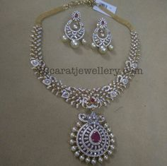 Latest Diamond Set with Chandbalis - Jewellery Designs
