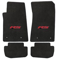 Camaro 2010-2015 4Pc Mats Ebony Velourtex RS Logo. A popular priced original equipment replacement mat with a heavier, denser face than factory mats. Velourtex provides outstanding value, with a silky smooth texture, created from premium nylon yarn. Velourtex features the same multi-layer backing as Lloyd's higher priced custom mat products, designed specifically for automotive use. Our backings feature moisture resistance, stiffness to maintain the mat shape and skid-resistance due to our…