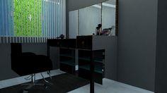 Sala de corte cabeleireira Patricia Donanzan - MD Studio de beleza