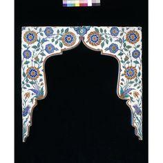 Spandrel tiles, Iznik, Turkey | V&A Search the Collections