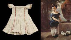 Les textes sur la vêture des enfants trouvés décrivent l'habillement des jeunes enfants des milieux populaires. Les jeunes garçons sont vêtus d'une robe jusqu'à l'âge de 3 à 5 ans.