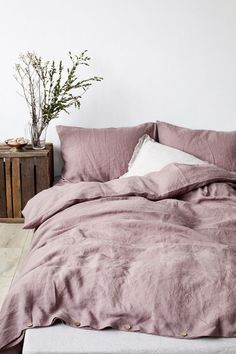 Beautiful Linen Homewares The Fresh Exchange Mauve Bedding Lavender Comforter