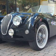 #jaguar #xk120 #coloradogrand #vail #convertible #rally #bigcat #wirewheels #roadster