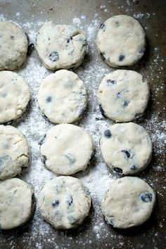 Blueberry Rosemary Buttermilk Biscuits - The perfect breakfast treat, full of juicy blueberries and fresh rosemary. Spread with really good butter and blueberry jelly.