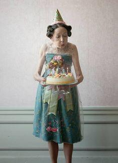 Portrait of a lady wearing an edwin oudshoorn dress.