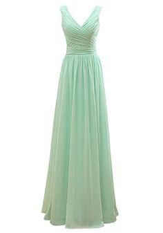 851cdd06afc20 Now and Forever V Neck V Back Straps Bridesmaid Dresses 14 mint green