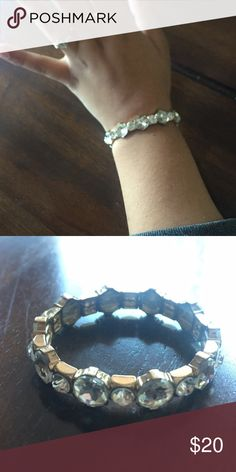 Formal Bracelet Great for weddings, prom, formal, homecoming, golden birthdays, special events, pageants, showers, and so much more!! Stretchy. Francesca's Collections Jewelry Bracelets