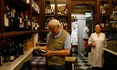 Browsing the well-stocked shelves at Casa del Vino. Photograph: John Brunton