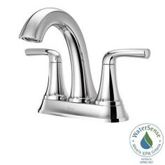 Ladera 4 in. Centerset 2-Handle Bathroom Faucet in Polished Chrome