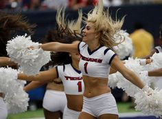 The Houston Texans Cheerleaders perform during the first half of an NFL football…