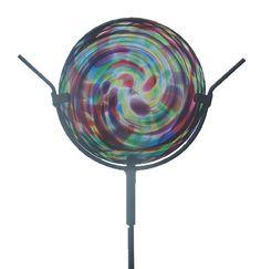 Glass Sun Disk Garden Sculpture by Kitras Art Glass