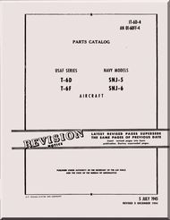 North American Aviation T-6 SNJ Aircraft Parts Manual - 01-60FF-4 - 1945