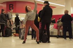 Crazy Teen Dances Like Nobody's Watching At Busy Airport