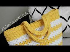 Penye İpten Çanta Yapımı (Ribbon İp İle Plaj Çantası Yapımı) 2 - YouTube