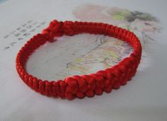 Chinese Jin-gang Knot Bracelet (Red) - Small