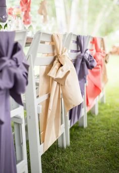 Chair décor is one of the most overlooked details when you think about wedding décor. But with the right embellishments, wedding chair decorations are sure to create a dramatic look for your special day. Wedding Sash, Wedding Vows, Wedding Blog, Diy Wedding, Wedding Stuff, Wedding Ideas, Prom Decor, Wedding Chair Decorations, Wedding Chairs