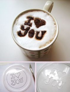 Surprise your partner with different way to drink coffee or cappuccino.