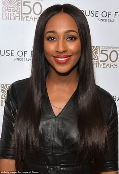 Natural beauty: The X Factor star wore a bright red shade on her lips, while keeping her g. Alexandra Burke, Edition Hotel, Anniversary Dinner, Lbd, Natural Beauty, Beauty Makeup, Singer, Bright, London