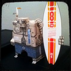 Surfbot #papertoy #robot #surf