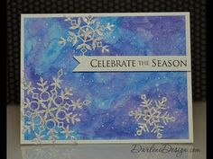 Watch as I create this background using water and two Inktense Watercolor Pencils. For photos and a complete list of supplies, see my card-making video site:.