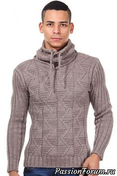 Made-To-Order Men Hand Knit Sweater Our - Diy Crafts - Marecipe Gents Sweater, Bodybuilding Clothing, Mens Fashion Sweaters, Hand Knitted Sweaters, Winter Fashion Outfits, Knit Jacket, Sweater Weather, Hand Knitting, Knitwear