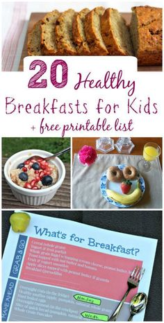 Make back to school mornings easier with these great tips, healthy breakfast ideas for kids + FREE printable list!